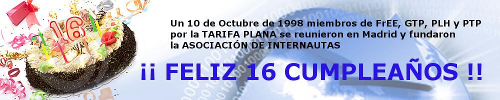 16 cumpleaños de la Asociación de Internautas