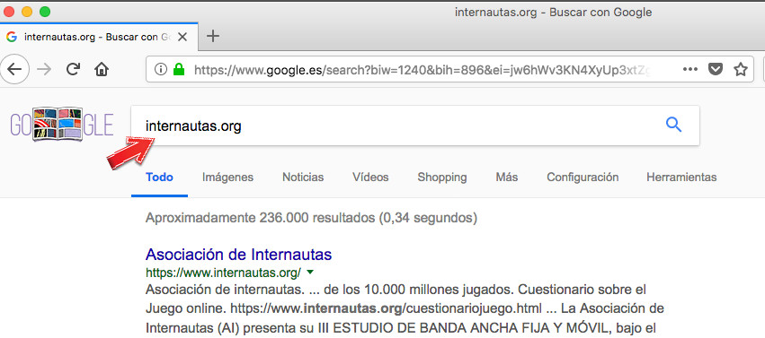 Buscar información sobre un dominio