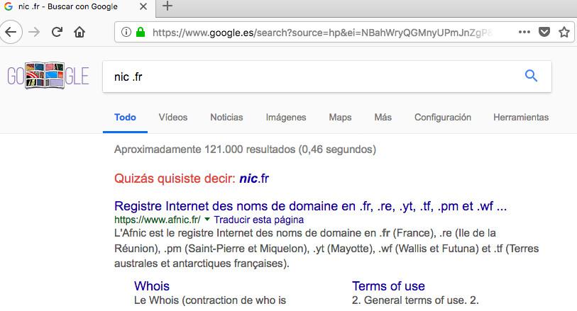 buscar registradores de dominios