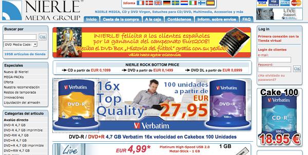 Web en castellano de nierle.de