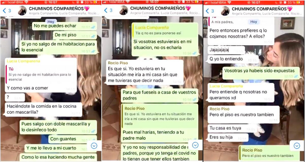 Chat conversación Elena Cañizares