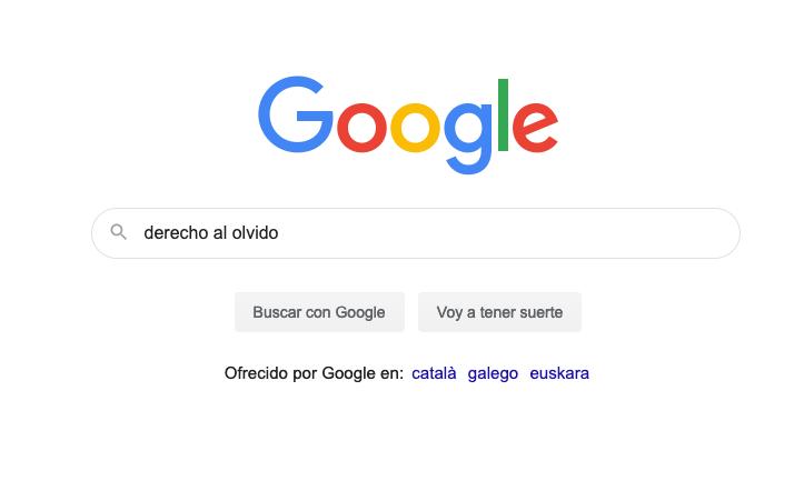 Pagina google derecho al olvido