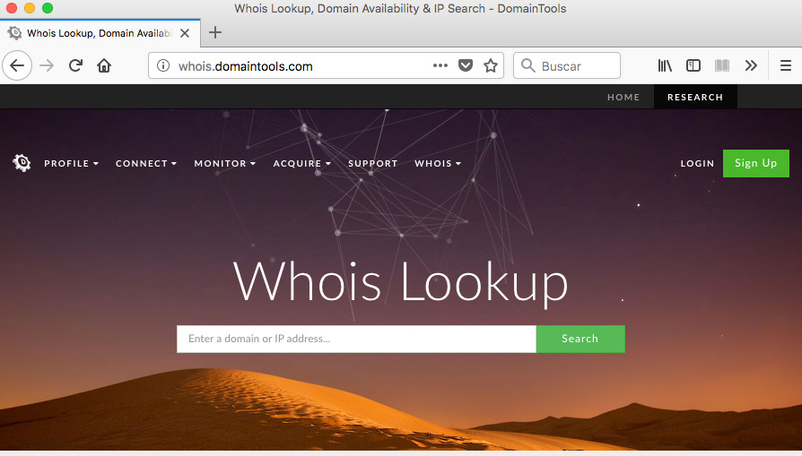 web de domaintools