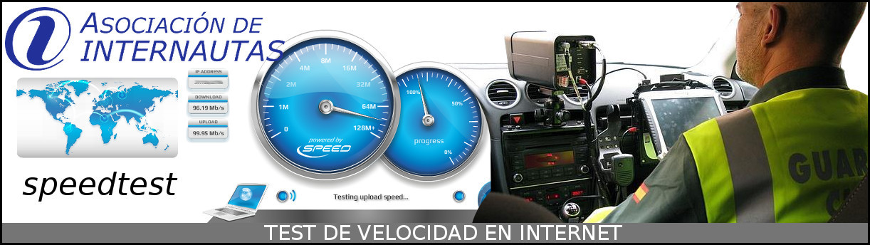 Test de velocidad en internet. download upload
