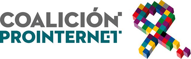 Logo Coalicion prointernet. NO AL CANON AEDE