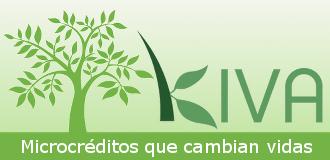 logo de Kiva, microcr�ditos que cambian vidas