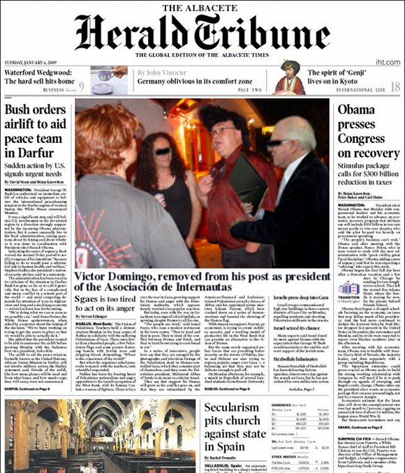 Portada de Albacete Herald Tribune
