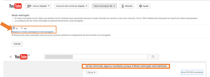 youtube restriccion1