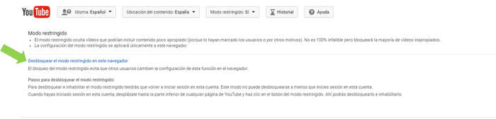 youtube restriccion3